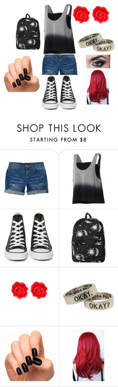 """my first day of scjool outfit"" by cheyenneventura ❤ liked on Polyvore featuring dELiA*s, adidas, Converse, Motel and Fornash"