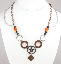 Jewelry Making Idea: Clockwork Symphony Necklace (eebeads.com)