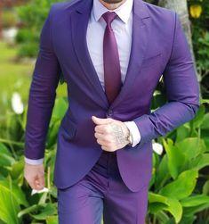 Light Purple Blazer outfit for men. #mensfashion #menswear #suit www.tuckedtrunks.com