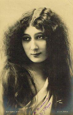 Rare Miss Vanora vs La Belle Otero Portrait as Long Hair Nymph Beauty by Walery…