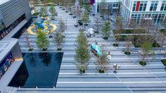 保利梦工场—电竞文创中心   ACA麦垦景观 - 景观网 最具影响力的景观设计门户_景观设计网 Landscape Architecture, Landscape Design, Urban Design, Water Features, Fair Grounds, Commercial, Luxury, Urban Park, Parks