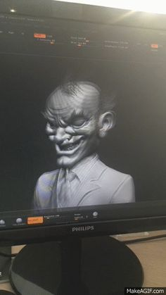 Joker in his old age... looking as creepy as you'd imagine:)) Drawn by our awesome TMe artists! #WIP