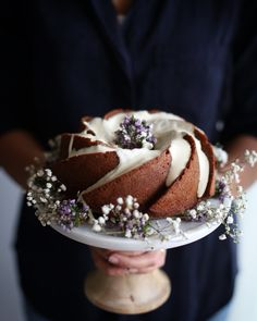 Wholewheat Purple Carrot Cake with Honey-Cream Cheese Drizzle. Made with 100% wholewheat flour, sweetened entirely with honey.