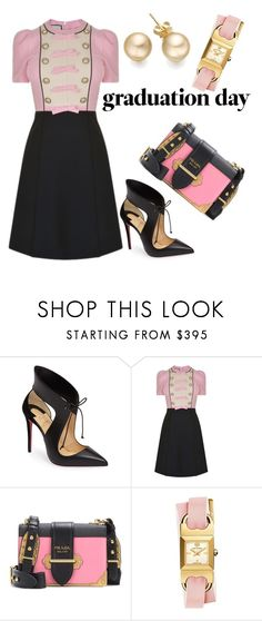 """""""Untitled #40"""" by stellafes ❤ liked on Polyvore featuring Christian Louboutin, Gucci, Prada and Tory Burch"""