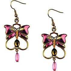 @Overstock.com - Youll look stunning when you wear these 3D pewter earrings featuring a stunning butterfly design and a vintage feel. The multicolor enamel in tones of rose will coordinate well with many ensembles, while the hook closure will keep them secure.http://www.overstock.com/Jewelry-Watches/Pewter-Vintage-Butterfly-Earrings-with-Multicolor-Enamel-Accents/4243638/product.html?CID=214117 $17.49