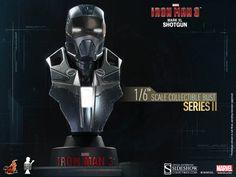 Busto Mark XL Shotgun 11 cm. Iron Man 3. Serie 2. Sideshow Collectibles Espectacular busto para tu colección de la armadura Mark XL Shotgun 11 cm visto en el popular film Iron Man 3, a escala 1/6, con luz y 100% oficial y licenciado.