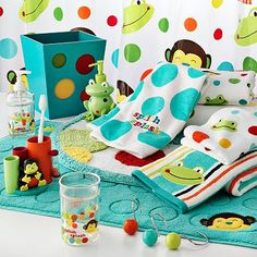 Kid Bathroom / Jumping Beans Frog and Monkey Bath Coordinates