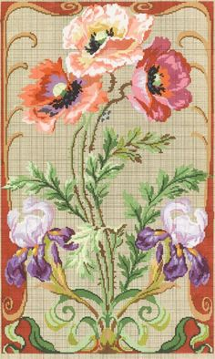 ru / Fotografie č. Cross Stitch Rose, Cross Stitch Flowers, Cross Stitch Charts, Cross Stitch Patterns, Embroidery Patterns Free, Embroidery Needles, Cross Stitch Embroidery, Hand Embroidery, Diy Fleur