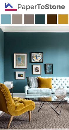 Living room color palette - amber black dark-amber dark-orange