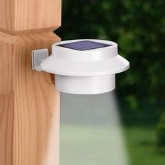Clip on Solar LED Light | Clip this Solar LED Light on your gutters, a fence or any flat surface. No wiring needed! It's the easiest way to Increase home safety & security without incurring electricity costs. Solar powered security light has 3 bright LEDs that illuminate dark areas dusk to dawn.
