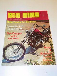"VTG ""BIG BIKE"" (NOV 1970) CHOPPER MOTORCYCLE MAGAZINE: CUSTOM BIKE HOG CYCLE"