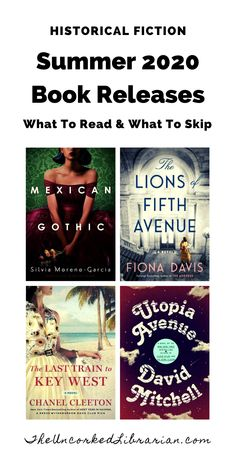 Don't miss these summer 2020 historical fiction book releases. We'll share some of the summer's hottest and most-anticipated historical fiction books to read in 2020.