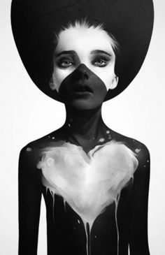 b&w heart
