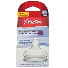 Playtex - Breastlike Nipples - Medium Flow, 2-Pack