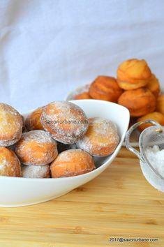 gogosi pufoase de post fara ou Pastry Cake, Pretzel Bites, Deserts, Food And Drink, Sweets, Bread, Snacks, Vegan, Cooking