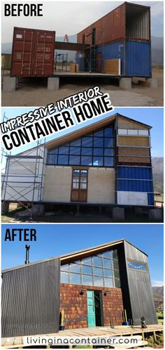 Shipping Container Cabin, Shipping Container Home Designs, Container House Plans, Container House Design, Building A Container Home, Container Houses, Architecture Design, Plans Architecture, Modern Architecture House