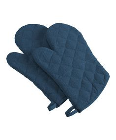This Blue Terry Oven Mitt - Set of Two is perfect! #zulilyfinds