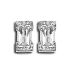 Exxotic designer genuine 925 sterling silver fashionable crystal earring - Online Shopping for Earrings by Exxotic jewelz