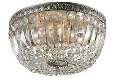 Charleston 4-Light Flush Mount, Crystal