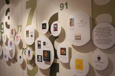 San Francisco Graphic Design timeline (at the Museum of Craft & Design) -- I like the huge numbers.