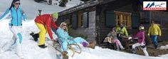 Tourism Obertauern campaign, 2012. Photographer Juergen Knoth. skiing , winter, snow, freestyle, ski, sledding, sledging, fashion, Austria, Alpes