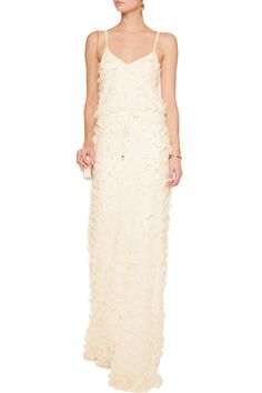 Shop on-sale Temperley London Petal appliquéd crepe maxi dress. Browse other discount designer Dresses & more on The Most Fashionable Fashion Outlet, THE OUTNET.COM