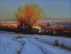 Greet the Morning - 8x10 palette knife 2011 - BRENT  COTTON