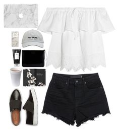 """Untitled #2844"" by wtf-towear ❤ liked on Polyvore featuring Madewell, Moleskine, Lulu Guinness, Alexander Wang and R+Co"