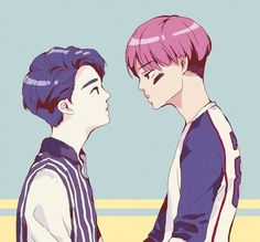 kaisoo~ Exo Fanart (see logo on pict for credit)