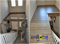 Double-Height Foyer Becomes DIY Loft Area - Fine & Home Casa Rock, Foyer Decorating, Extra Rooms, Ikea Hack, Home Projects, Home Remodeling, Playroom, Small Spaces, Diy Home Decor