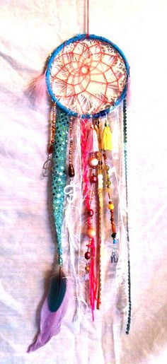 a beautiful Rachael Rice dream catcher. You can find on Etsy....dream away!