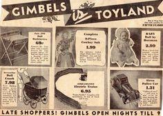 Gimbels ad 1934