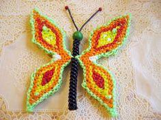 scoubidou boondoggle butterfly