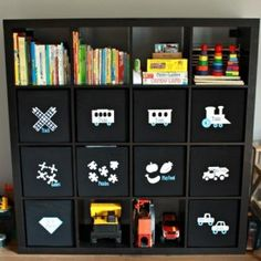 http://justagirlandherblog.com/taming-the-clutter-organized-toy-bins/