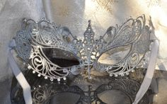 Silver Lace & Diamantes Masquerade Mask Fifty Shades Darker Inspired -Weddings,New Years,Valentine's Gift,Balls, Proms, Christmas, Halloween by SpecialEventsDecorUK on Etsy