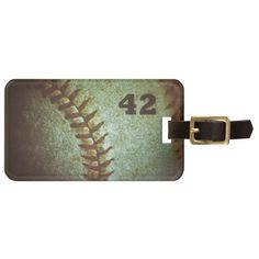 Sold! #MLB #baseball #42 #jackieRobinson :) Number 42 Baseball Macro Photograph Luggage Tag
