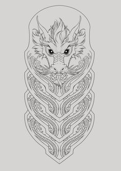 Half-sleeve dragon tattoo on Behance
