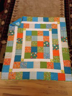 Charm pack quilt. Thank you, Martie!
