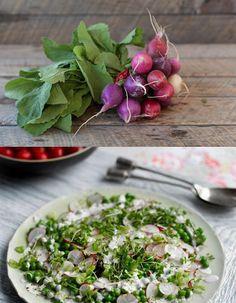 Pea-radish salad