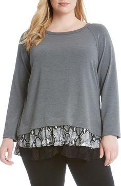 Karen Kane Contrast Hem Sweater (Plus Size) available at #Nordstrom