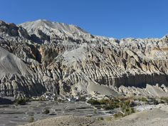 The picture of Shanghai valley around the #Upper #Mustang #Trekking in #Nepal.