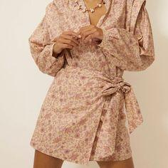 Lottie Skirt Off White   Love Stories Freelance Illustrator, Fashion Prints, Off White, Print Design, Wrap Dress, Floral Prints, Bows, Skirts, Pink