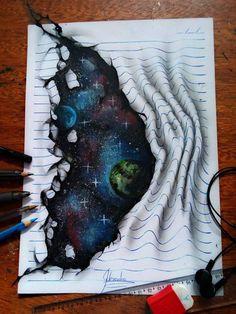 À seulement 16 ans, il réalise des dessins en 3D absolument impressionnants !   Page 3