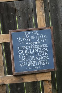 Man of God Pursue Righteousness...  1 Timothy 6:11 by lassothemoon