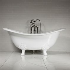 'The Smithfield68' 68 Vintage Designer Cast Iron Clawfoot Bateau Bathtubs from Penhaglion.