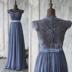 Stunning bridesmaid dress!!! Etsy listing at https://www.etsy.com/uk/listing/221255859/2016-steel-blue-bridesmaid-dress-cap