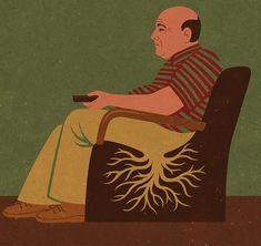 Satirical Illustrations Addiction to Technology16
