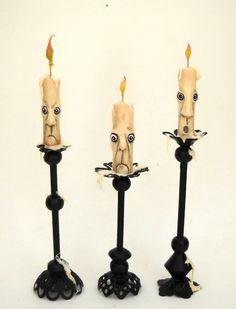 Wonderful candles for that spooky house by Italian artist Loredana Tonetti