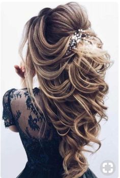 68 Stunning Prom Hairstyles For Long Hair For 2019 – Hair Creations Fluidity – … - Cute Hairstyles Long Hair Wedding Styles, Wedding Hairstyles For Long Hair, Wedding Hair And Makeup, Hair Styles For Prom, Long Prom Hair, Hair For Prom, Bride Hairstyles For Long Hair, Wedding Hairstyles Half Up Half Down, Bridal Makeup