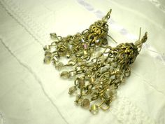 Smoky Chandelier Earrings With Glass Crystals and by juta230, $31.95